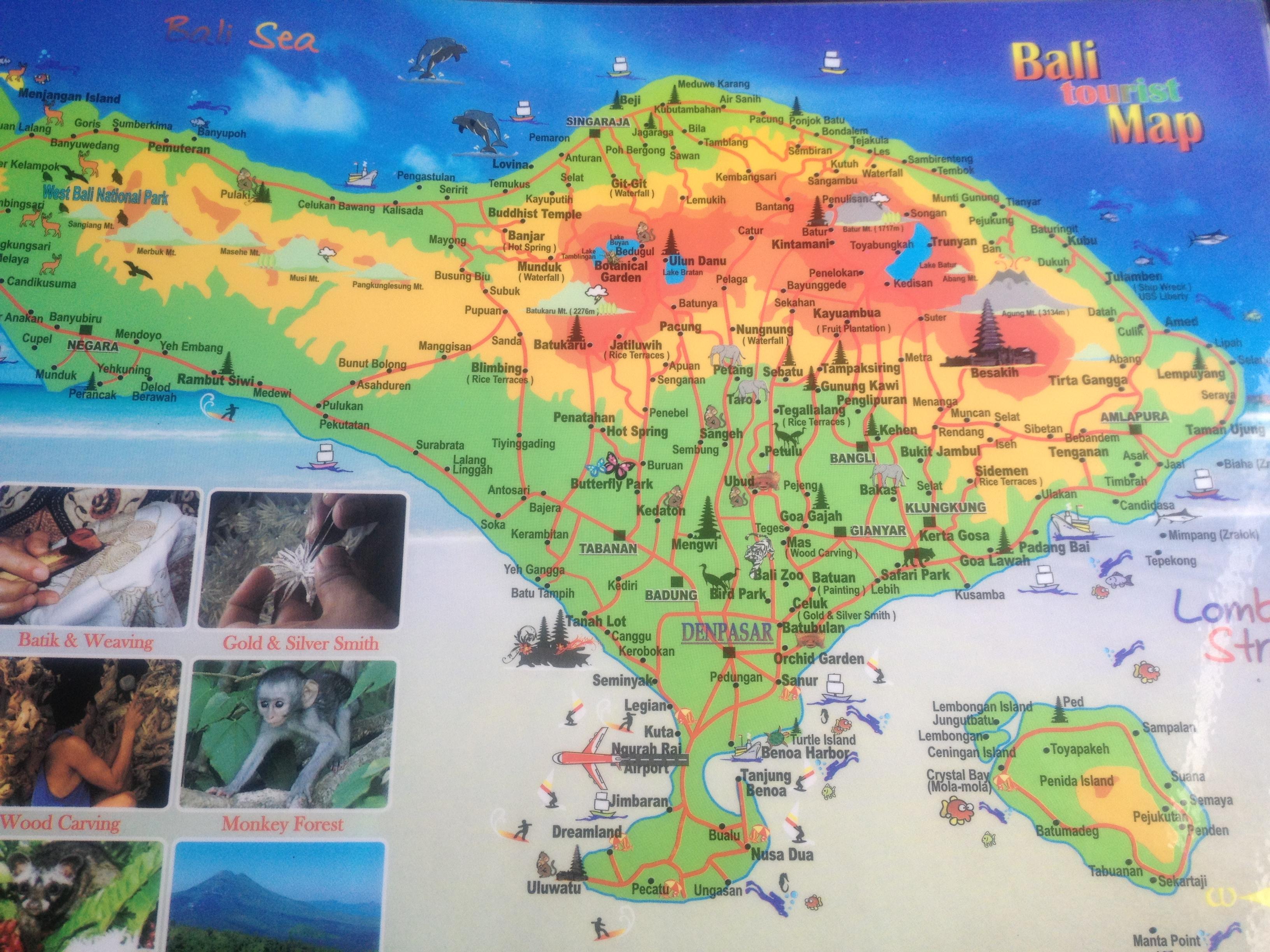 Carte Bali Lieux Touristique.Ah Bali Marianik